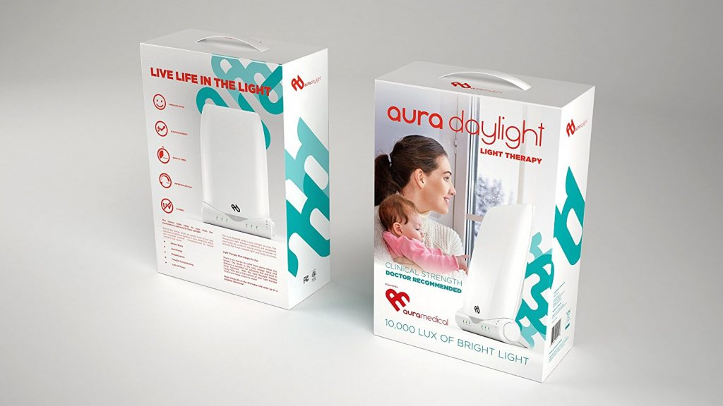 Aura® Day Light Therapy Lamp packaging